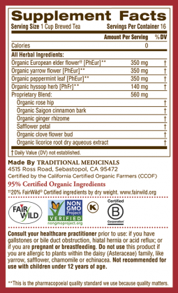 Gypsy Cold Care® Ingredients & Info